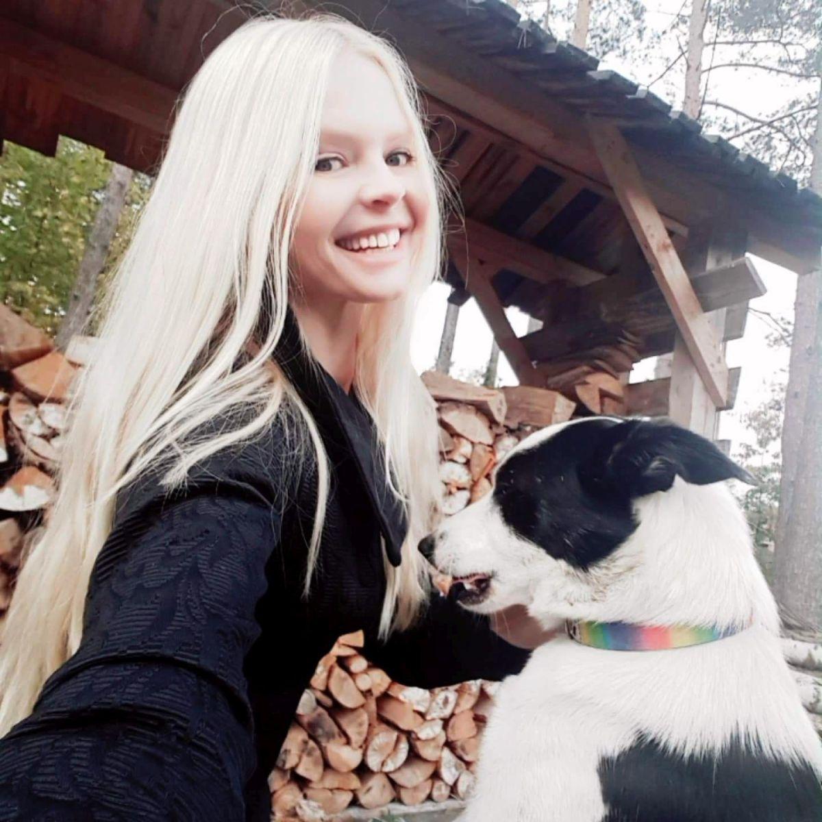 Wiola z psem