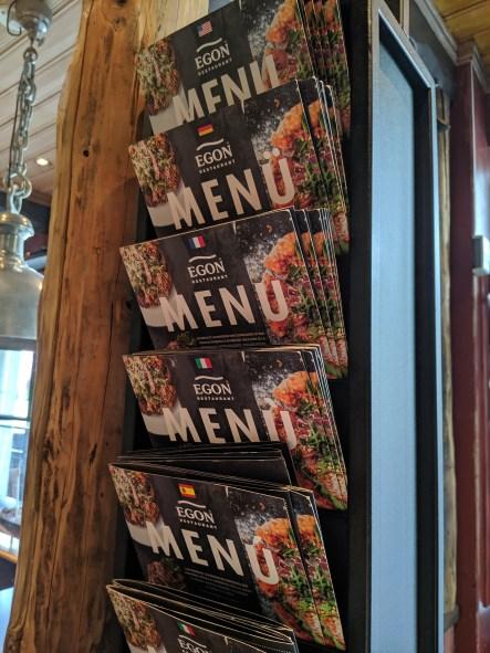 Egon's menus in several languages