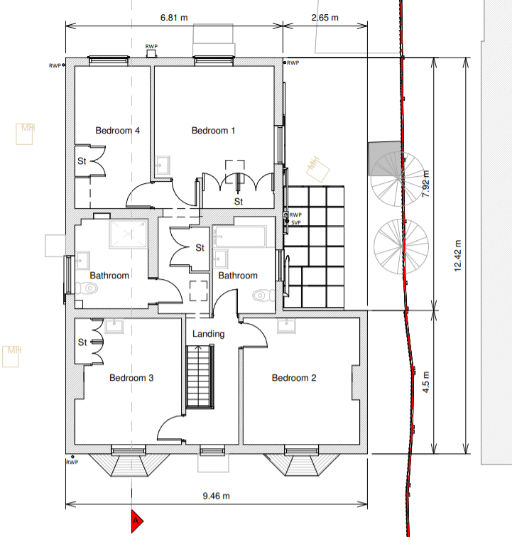 Current Upstairs Layout