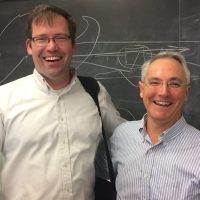 Guest lecturer Scott Hinson (L) and Ross Baldick. Photo by Hunyoung Shin.