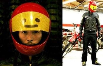 LEGO minifigg motorcycle helmet