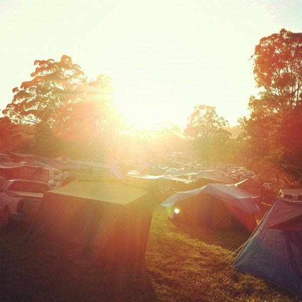 Sunrise over Tent City
