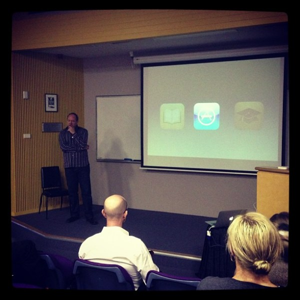 iPads in Tertiary Teaching and Learning seminar with Stephen Atherton