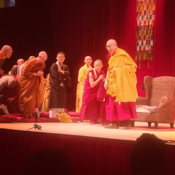 Day 2 of the Jewel Lamp teachings with His Holiness the Dalai Lama