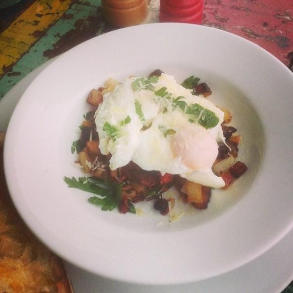 Fried potato, pancetta & onion