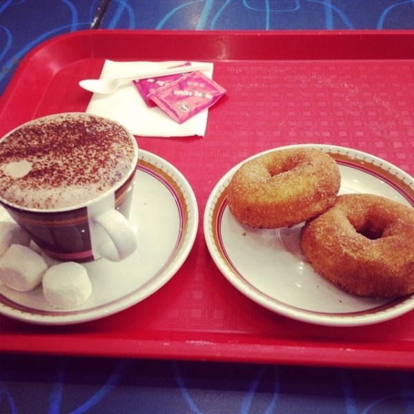 Hot Chocolate & two donuts