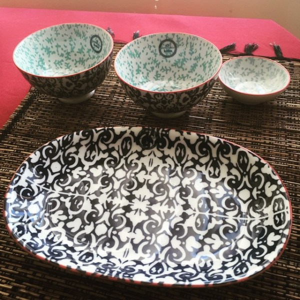 Koko plate & bowl set from Centro Freebies
