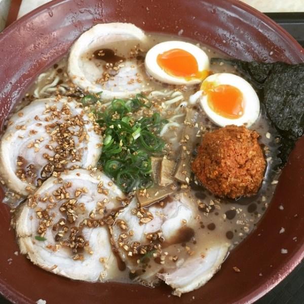 Garlic Tonkatsu Ramen with Soft Boiled Egg & Chili Bomb
