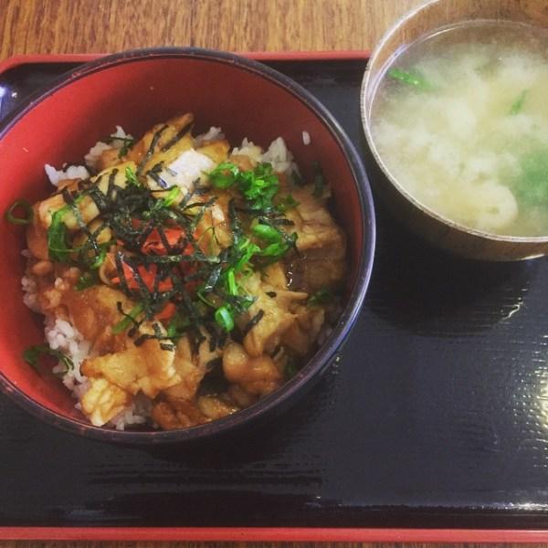 Teriyaki Chicken on Rice & Miso Soup