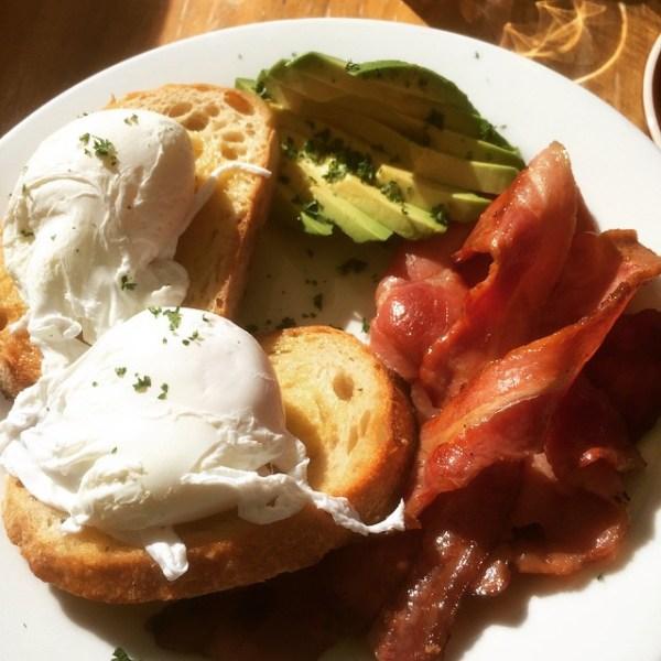 Poached Eggs with Bacon & Avocado