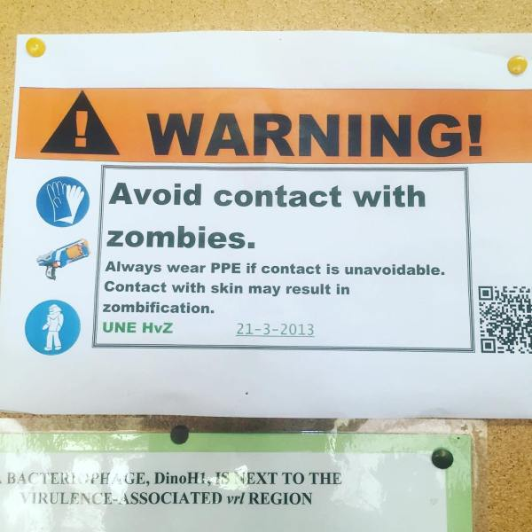 WARNING! Avoid Contact With Zombies