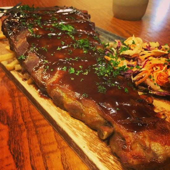 Sticky tequila ribs