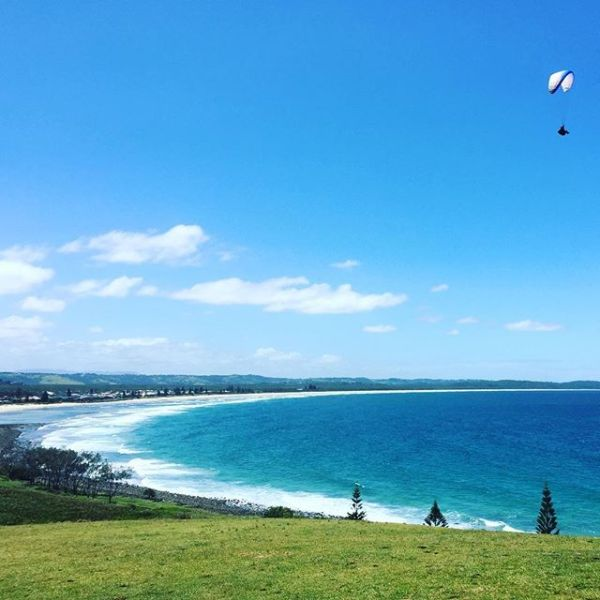 Paragliding over Lennox Head