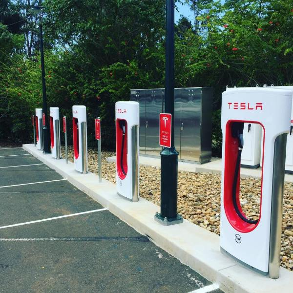 New Tesla charging station