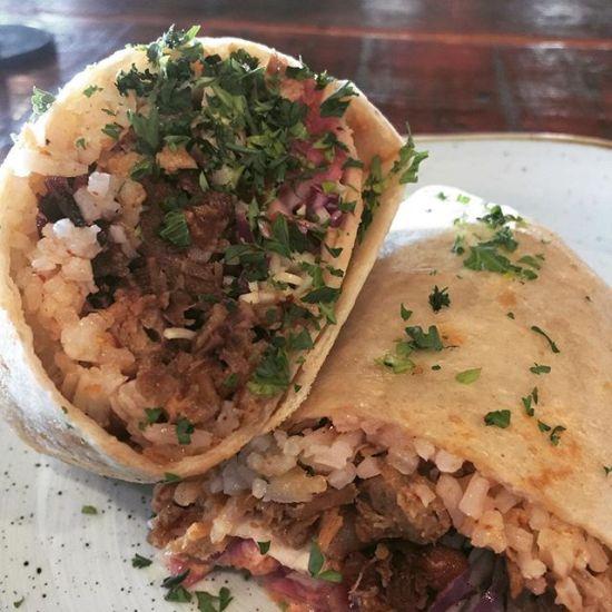 Oh Valentina Pulled Pork Burrito
