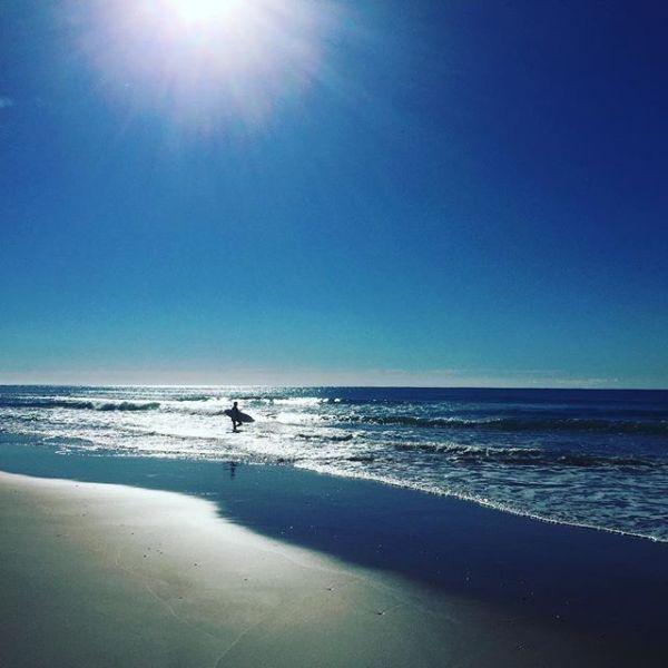 Sunday morning surfer