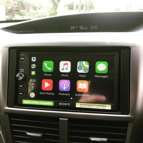A new phone (iPhone X) needs a new stereo (Sony XAV-AX100) with CarPlay