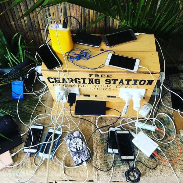 The morning festival dilemma... where to charge up?