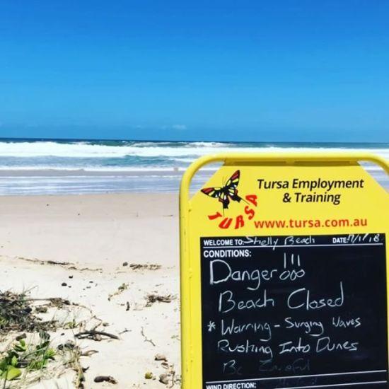 Beach closed :(
