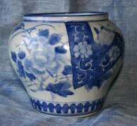 delft-vase-bleu-et-blanc-a-motifs-japonisants-3-xixe-ou-xviiie-siecle-haut-18-cm-dia-21-cm-origine-rosset-granger