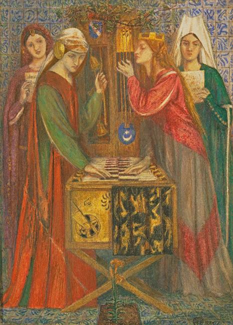 Dante Gabriel Rossetti, The Blue Closet 1857 watercolor on paper