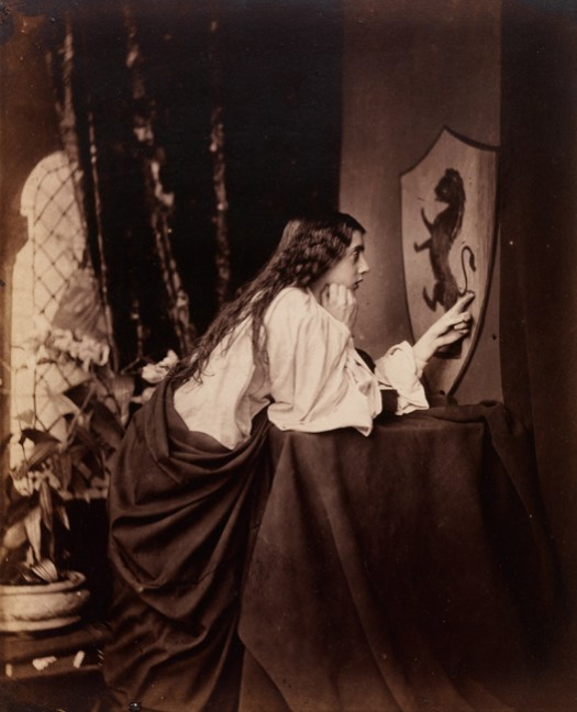 Henry Peach Robinson, Elaine Watching the Shield of Lancelot, 1862 albumen print, The Royal Photographic Society Collection at the National Media Museum, Bradford