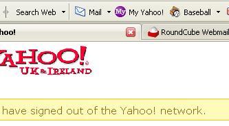 Yahoo Toolbar Logged Out