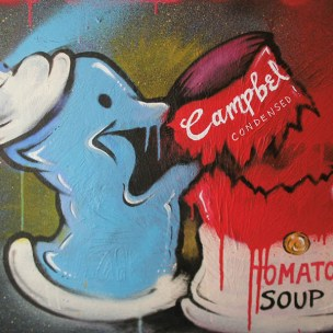 campbells soup graffiti spood pop art