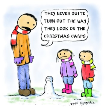 disappointing snowman