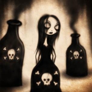 poison dress lowbrow art pop surrealism