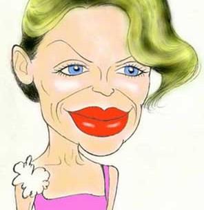Kylie Minogue caricature