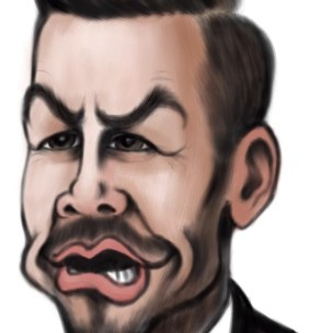 david beckham caricature cartoon