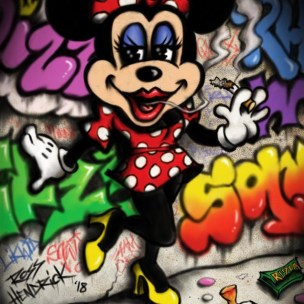 minnie mouse pop art graffiti smoking