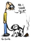 sit shit dog cartoon joke