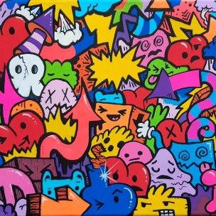 pop art doodles canvas