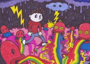 mind brain pop surrealism low brow art