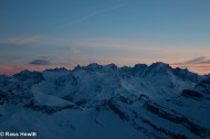 Dawn from Dents du Midi refuge