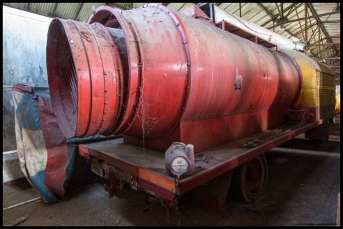 La turbine de chauffe.