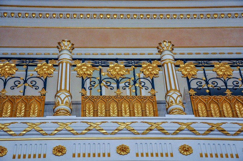 Close-up of the railings in the ballroom - La Fenice Opera House in Venice, Italy - www.rossiwrites.com