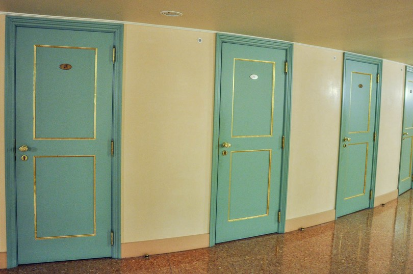 The doors of the boxes - La Fenice Opera House in Venice, Italy - www.rossiwrites.com