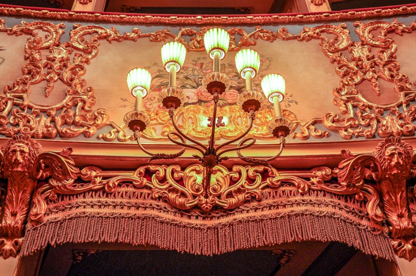 The lights on the boxes - La Fenice Opera House in Venice, Italy - www.rossiwrites.com