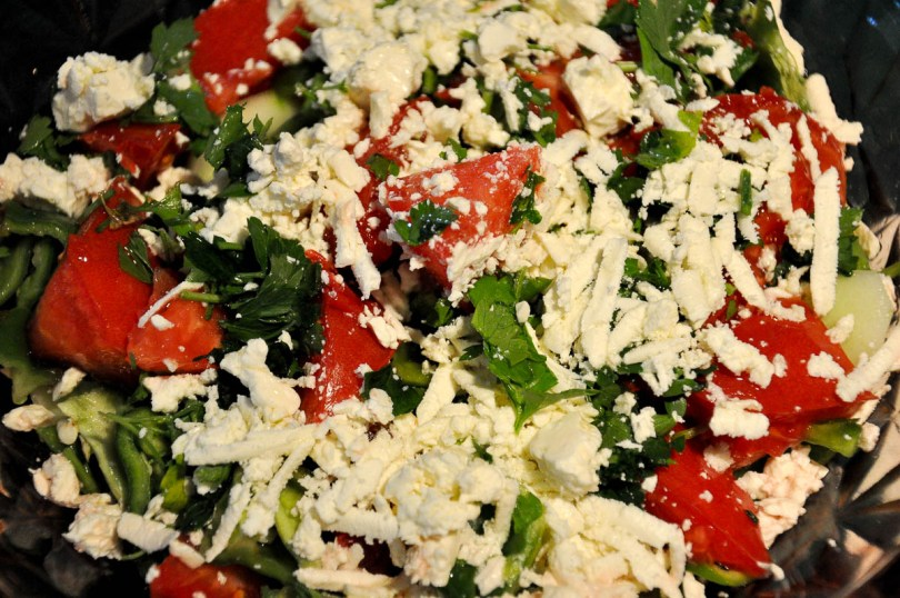 Shopska salad - Bulgarian Food - Varna, Bulgaria - www.rossiwrites.com