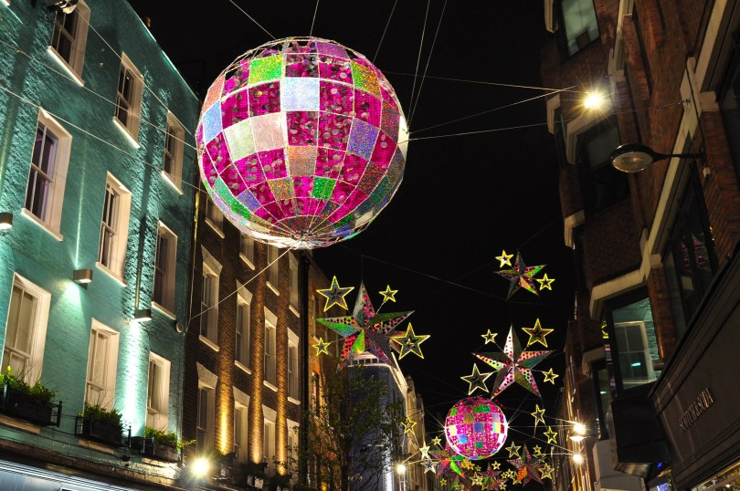 Carnaby Street's Christmas decorations, London, England