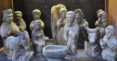 Handcarved Nativity Scene, St. Albans Cathedral, St. Albans, England