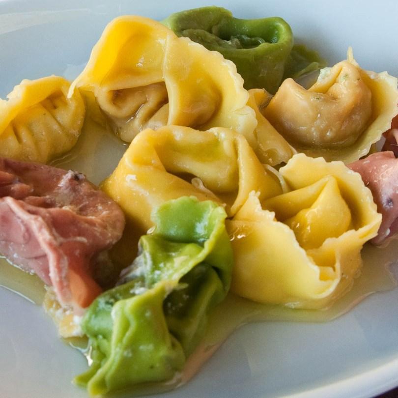 A selection of handmade tortellini, Cafe Visconti, Borghetto sul Mincio, Italy
