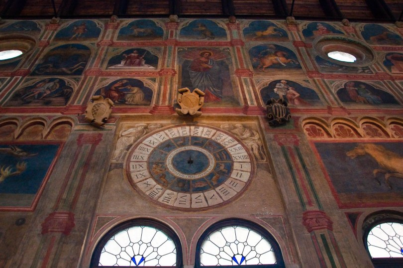 Astrological clock, Great hall of Palazzo della Ragione , Padua, Italy - www.rossiwrites.com