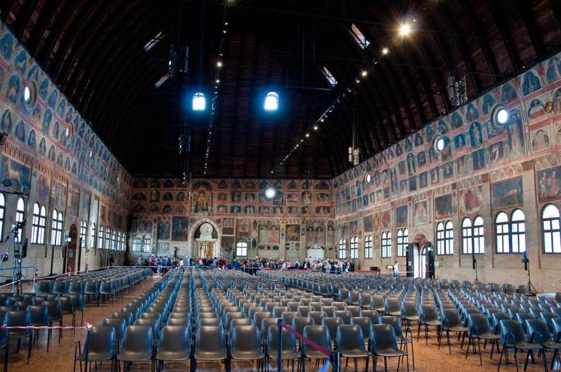 Great hall of Palazzo della Ragione , Padua, Italy - www.rossiwrites.com
