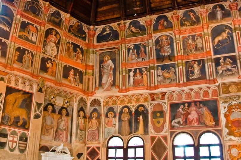 Inside Palazzo della Ragione , Padua, Italy - www.rossiwrites.com