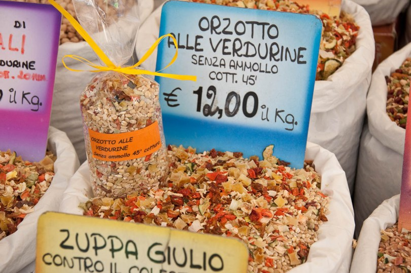 Orzotto mix, The Marketplace, Piazza delle Erbe, Padua, Italy - www.rossiwrites.com