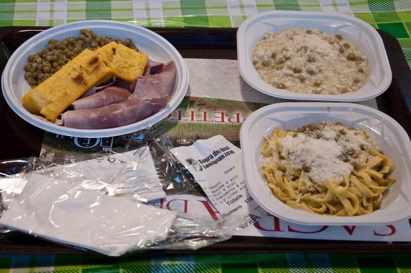 Our meals, Pea Festival, Sagra dei Bisi, Lumignano, Veneto, Italy - www.rossiwrites.com